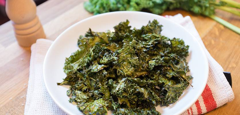 Recette de chips de Kale : croustillantes, saines et peu caloriques !